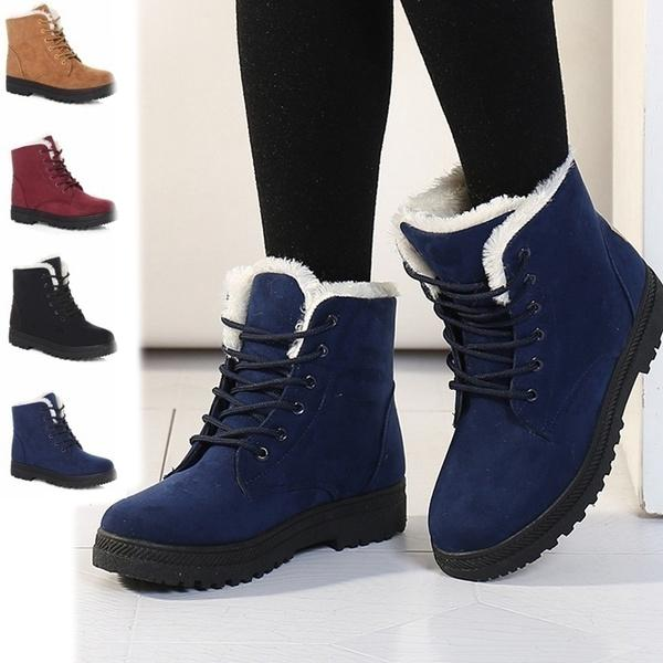 Winter Outdoor Flat Short Boots Women's Clothing - DailySale