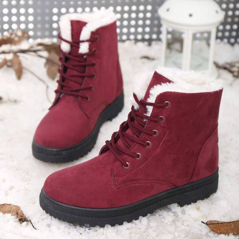 Winter Outdoor Flat Short Boots