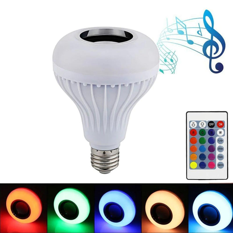 Wireless Bluetooth Multi-Color Light Bulb Speaker Home Essentials - DailySale