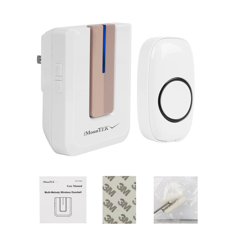 Wireless Doorbell Rings 1000FT with 1 Plug Receiver Chimes