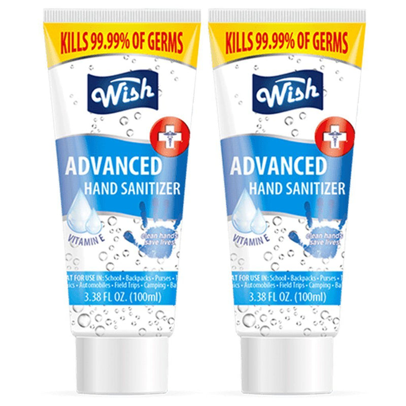 Wish Hand Sanitizer 3.38oz Tube with Vitamin E Beauty & Personal Care 2-Pack - DailySale
