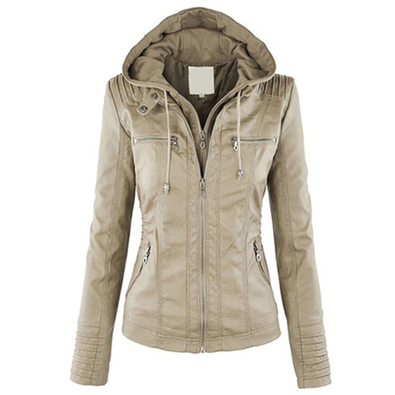 Women Fashion Autumn Winter Coat Jacket Women's Clothing Beige M - DailySale