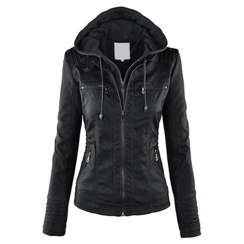 Women Fashion Autumn Winter Coat Jacket Women's Clothing Black M - DailySale