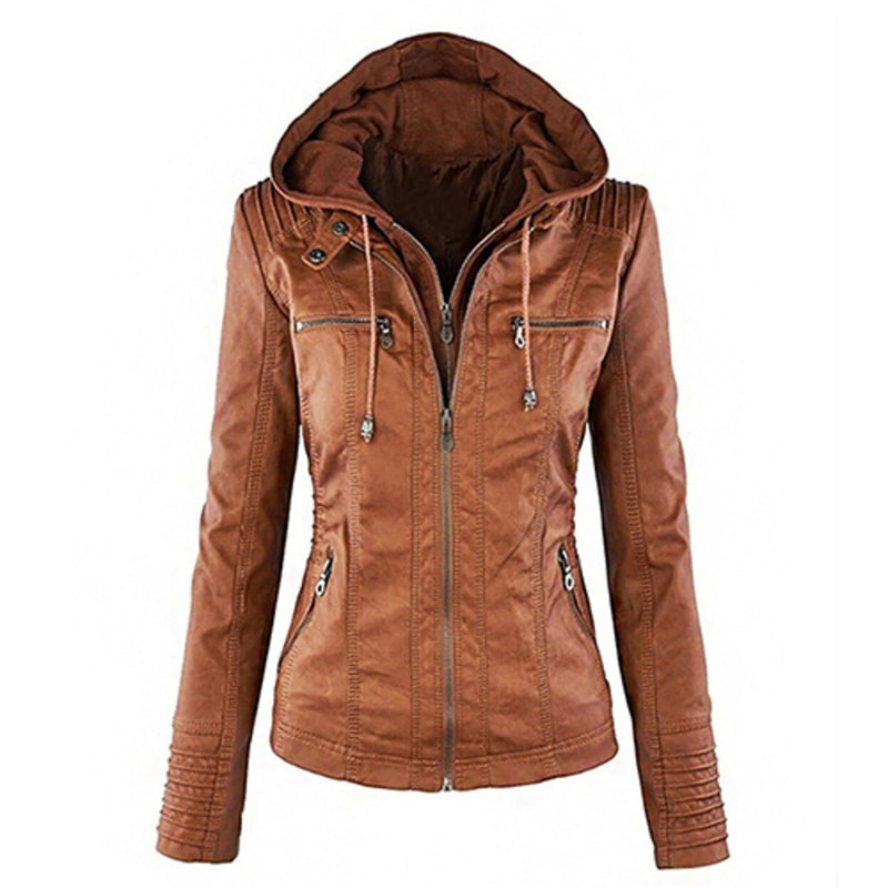 Women Fashion Autumn Winter Coat Jacket Women's Clothing Brown M - DailySale