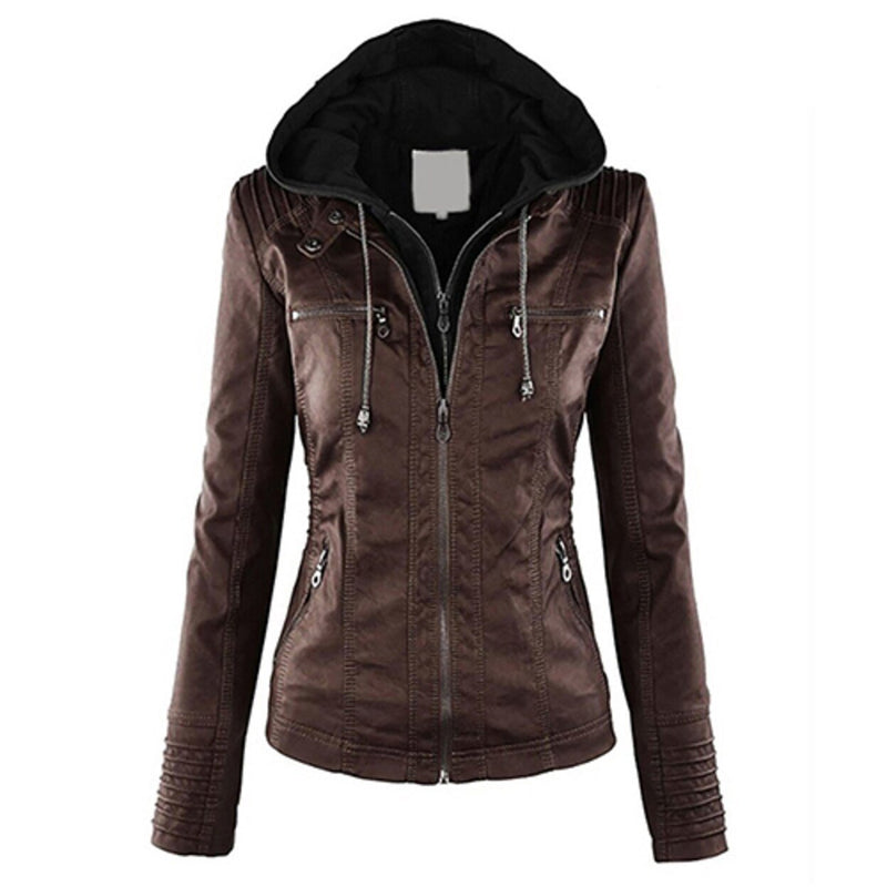 Women Fashion Autumn Winter Coat Jacket Women's Clothing Coffee M - DailySale