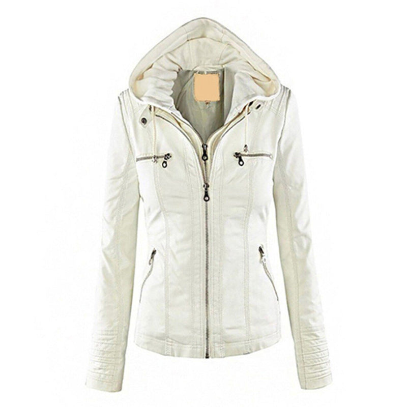 Women Fashion Autumn Winter Coat Jacket Women's Clothing White M - DailySale