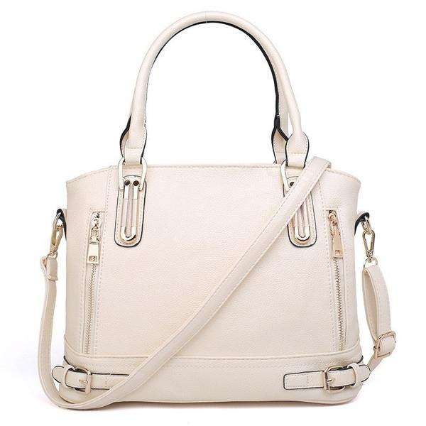 Women Fashion Genuine Leather Handbags Luxury Messenger Bags Bags & Travel Beige - DailySale