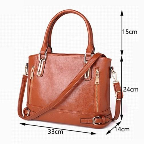 Women Fashion Genuine Leather Handbags Luxury Messenger Bags Bags & Travel - DailySale