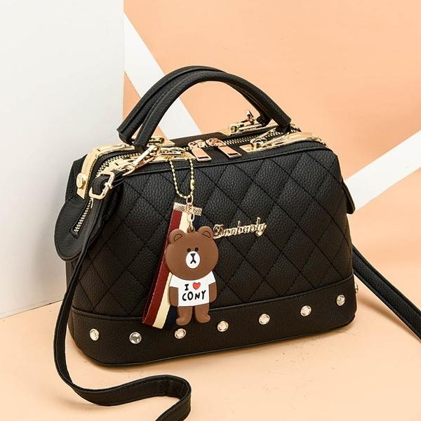 Women Leather Handbags Bag Women's Accessories Black - DailySale