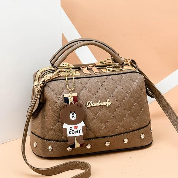 Women Leather Handbags Bag Women's Accessories Khaki - DailySale