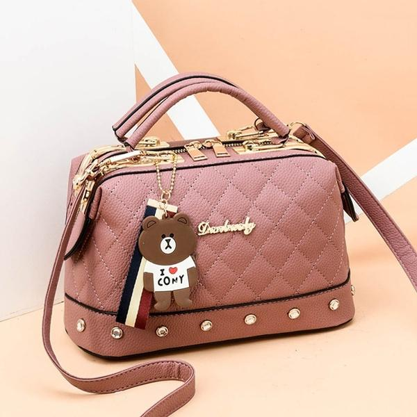 Women Leather Handbags Bag Women's Accessories Pink - DailySale