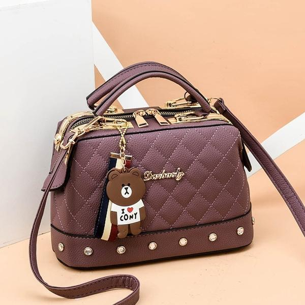 Women Leather Handbags Bag Women's Accessories Purple - DailySale