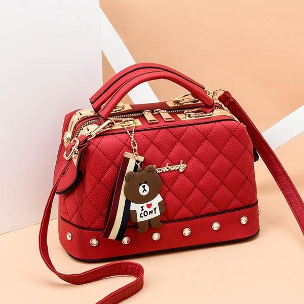 Women Leather Handbags Bag Women's Accessories Red - DailySale