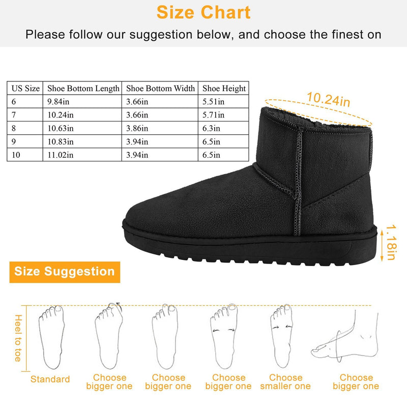 Women Suede Mid-Calf Snow Boot with Anti-slip Rubber Base Women's Clothing - DailySale