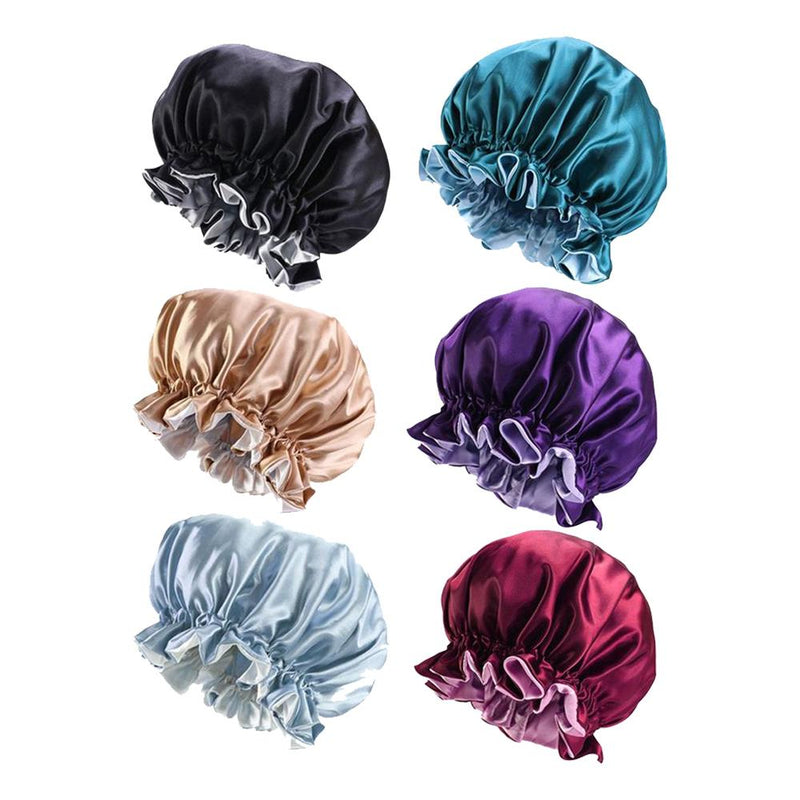 Women's Double Layer Reversible Silky Satin Headscarf Sleeping Bonnet Hat Headband Women's Accessories - DailySale