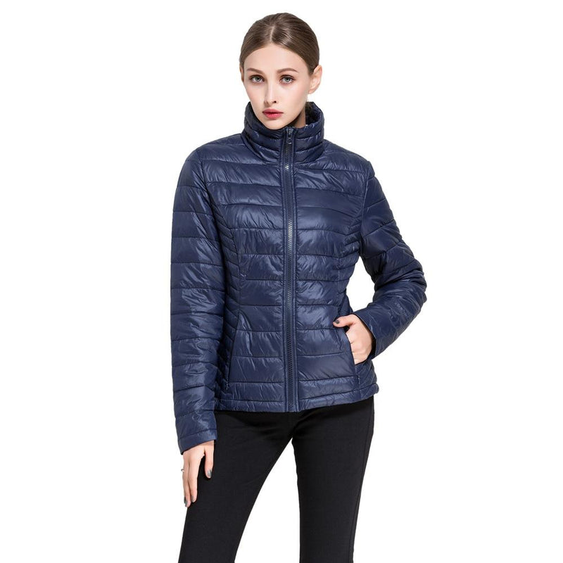 Women's Goose Down Lightweight Puffer Jacket Women's Apparel M Navy - DailySale