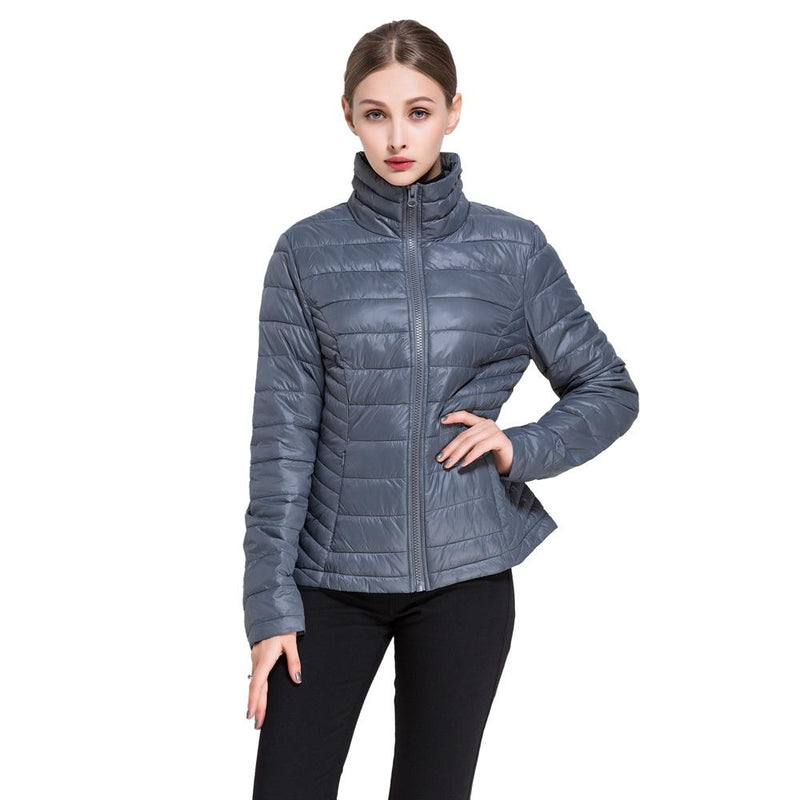 Women's Goose Down Lightweight Puffer Jacket Women's Apparel S Gray - DailySale