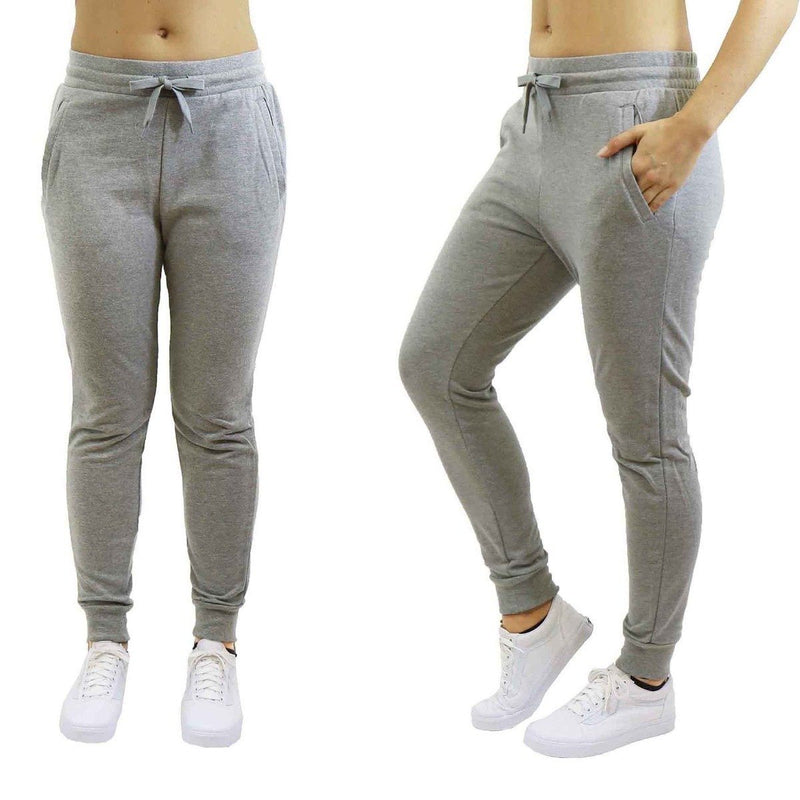 Women's Jogger Sweatpants French Terry Skinny-Fit - Assorted Colors & Pack Sizes Women's Apparel M Gray 1 Pack - DailySale