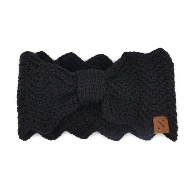 Women's Knotted Knit Winter Head Band Women's Apparel Black - DailySale