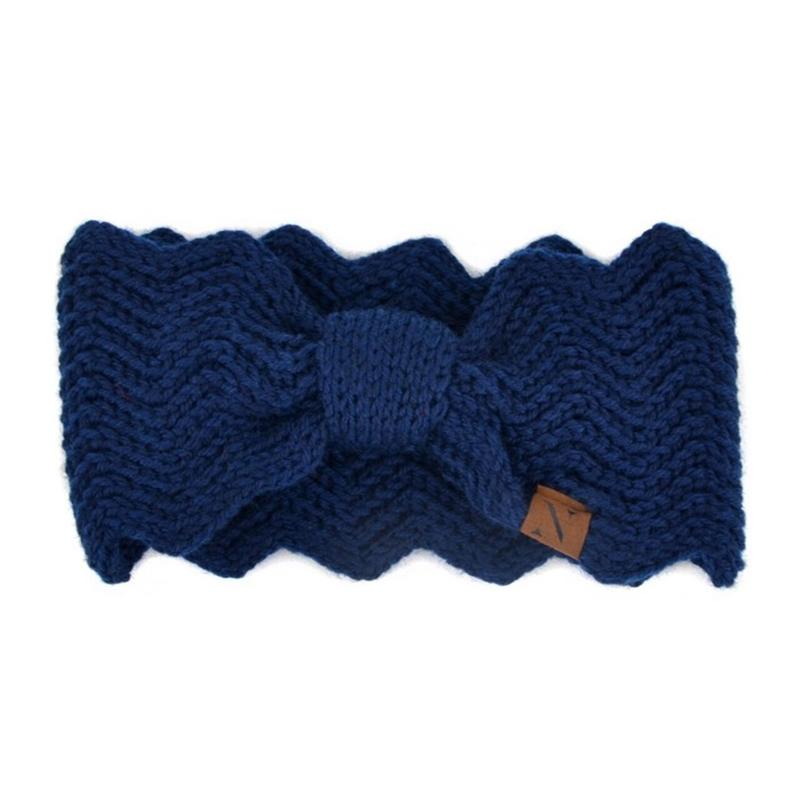 Women's Knotted Knit Winter Head Band Women's Apparel Blue - DailySale