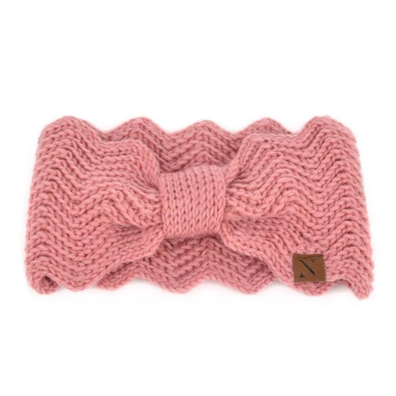 Women's Knotted Knit Winter Head Band Women's Apparel Pink - DailySale