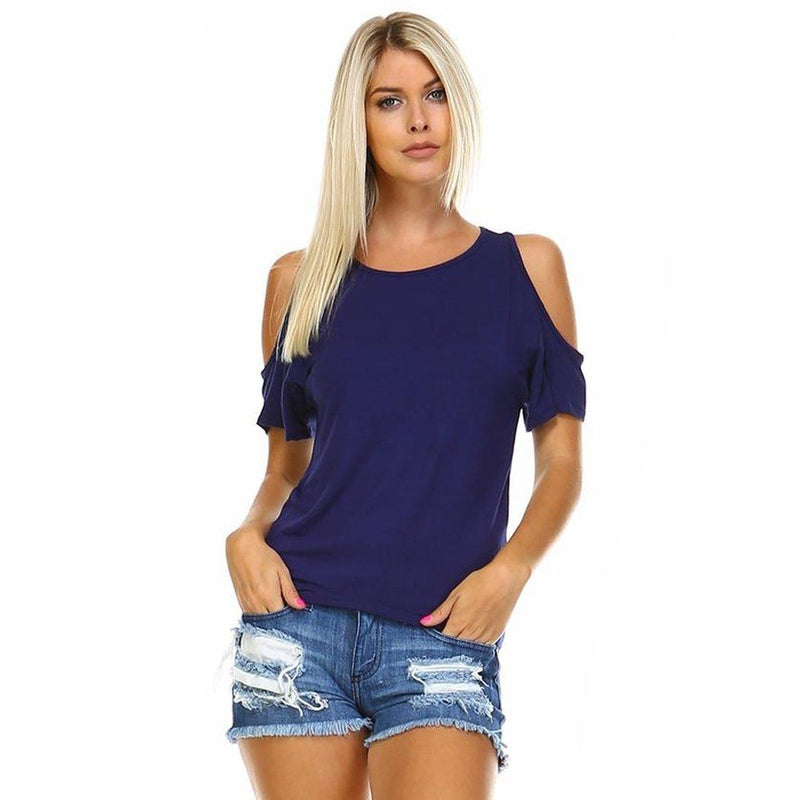 Women's Open-Shoulder Short Sleeve Top - Assorted Color and Sizes Women's Apparel - DailySale