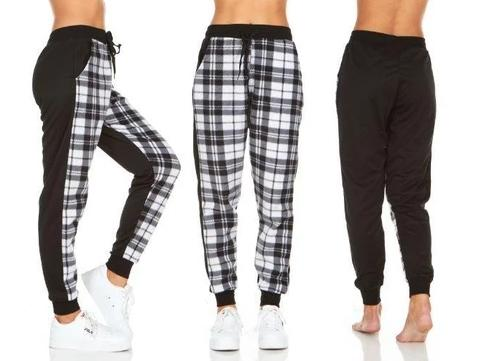 Women's Plaid Jogger Pants With Pockets Women's Apparel - DailySale
