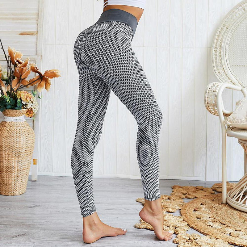 Women's Ruched High-Waist Butt Lifting Leggings Women's Clothing Gray S - DailySale