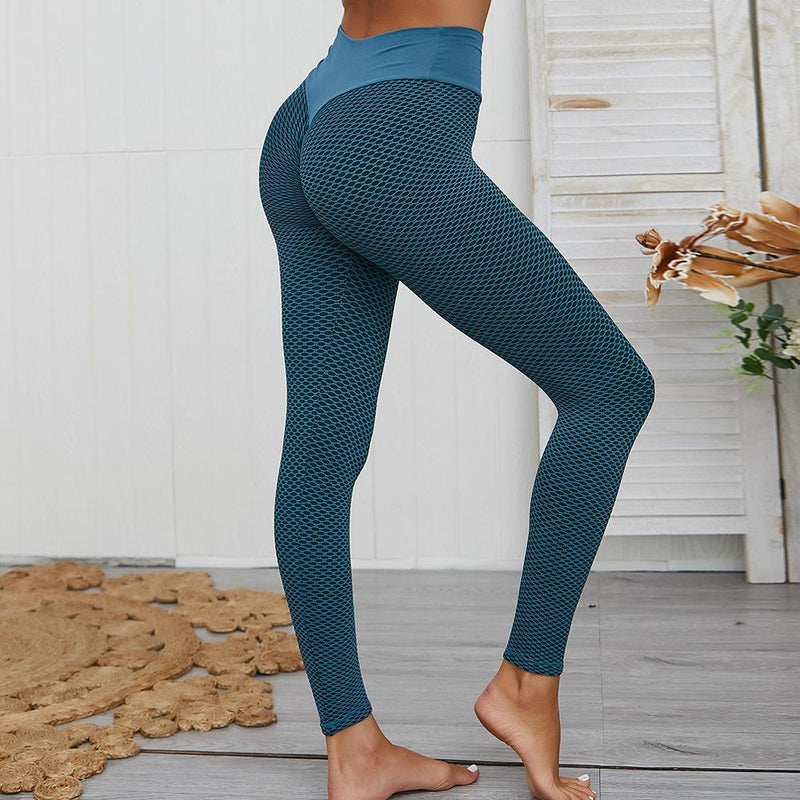 Women's Ruched High-Waist Butt Lifting Leggings Women's Clothing Green S - DailySale