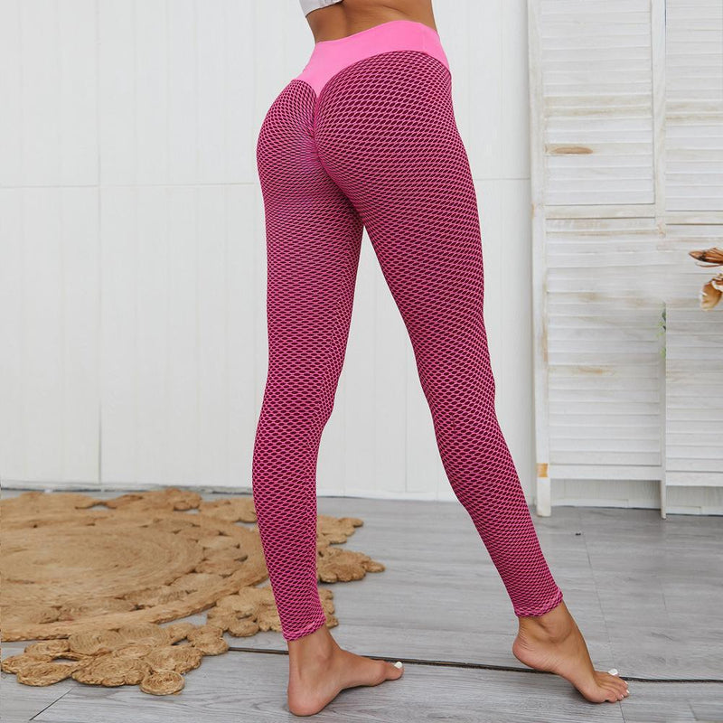 Women's Ruched High-Waist Butt Lifting Leggings Women's Clothing Pink S - DailySale
