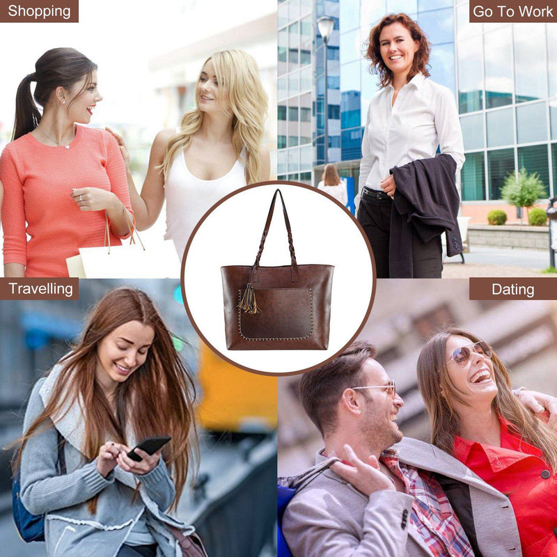 Women's Soft Leather Tote Bag Bags & Travel - DailySale