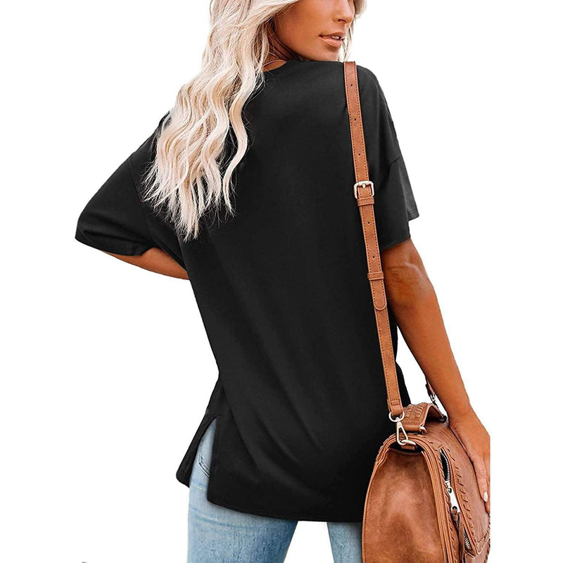 Women's V Neck T Shirts Basic Short Sleeve Tees Tops Women's Clothing - DailySale