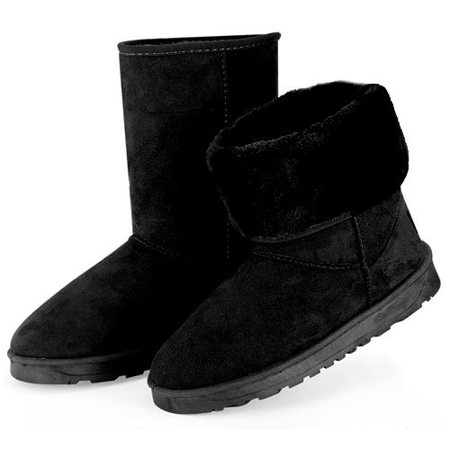 Women's Waterproof Snow Boots Women's Clothing Black 5 - DailySale