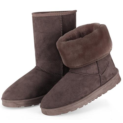 Women's Waterproof Snow Boots Women's Clothing Chocolate 5 - DailySale