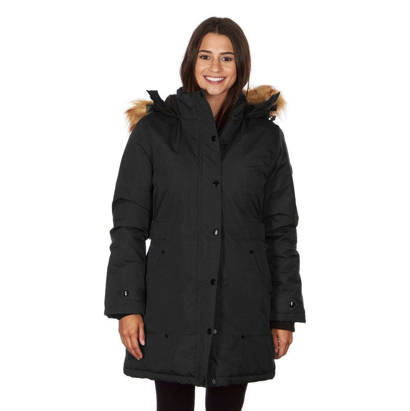 Yoki Women's Mid Length Hooded Puffy Coat Women's Apparel S Black - DailySale