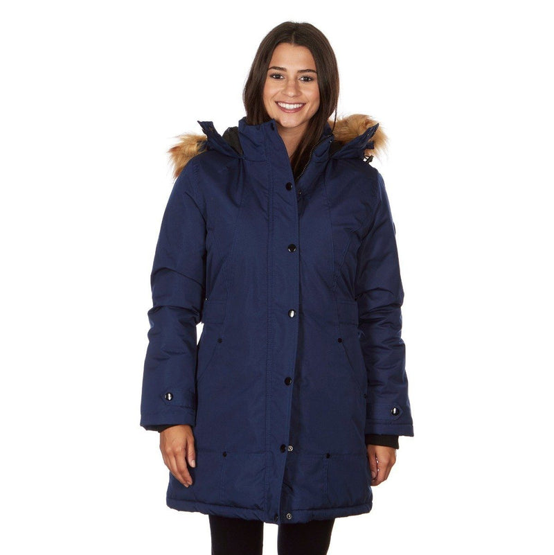Yoki Women's Mid Length Hooded Puffy Coat Women's Apparel S Royal Blue - DailySale