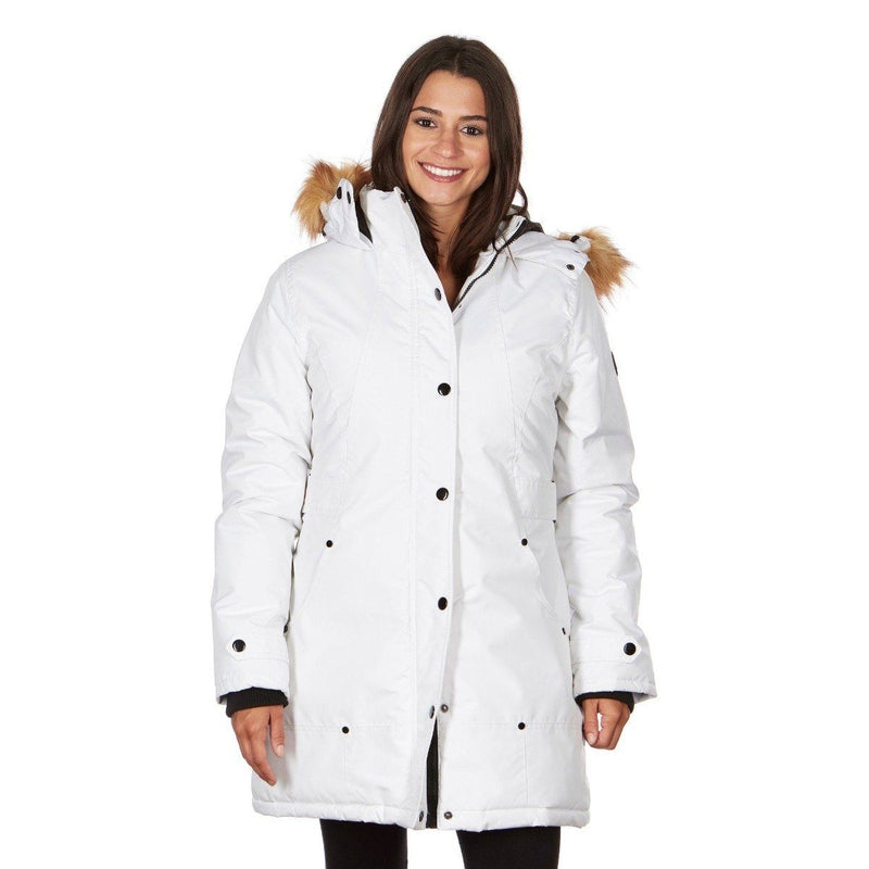 Yoki Women's Mid Length Hooded Puffy Coat Women's Apparel S White - DailySale