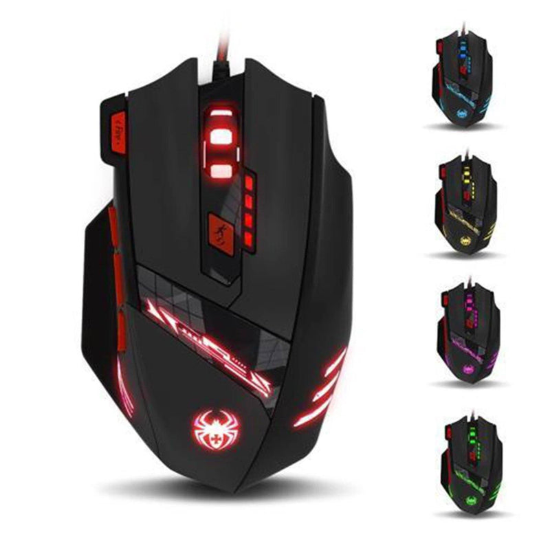 Zelotes 8000 DPI 8 Button USB LED Light Optical Wired Gaming Mouse Computer Accessories - DailySale
