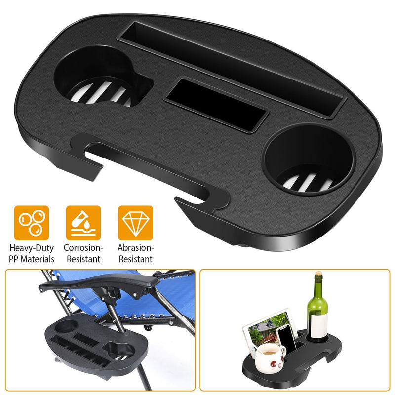 Zero Gravity Chair Cup Holder Clip On Side Tray Garden & Patio - DailySale