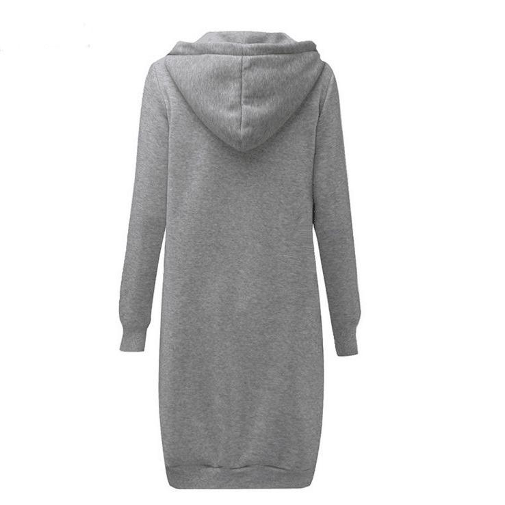 Zipper Front Pocket Drawstring Hoodie
