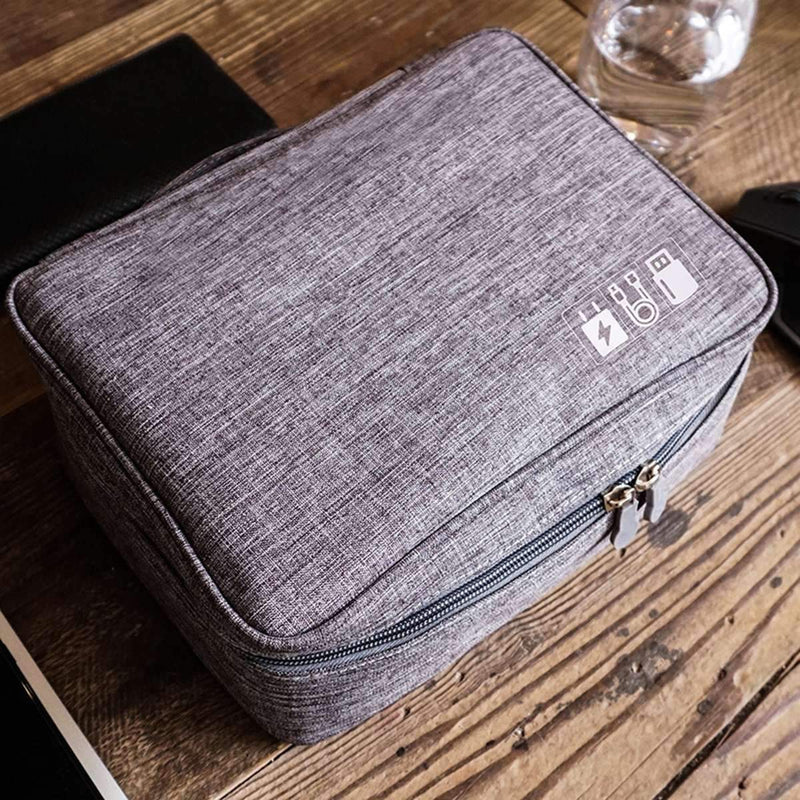 Zippered Cable Compartment Bag for Electronics Storage Gadgets & Accessories - DailySale