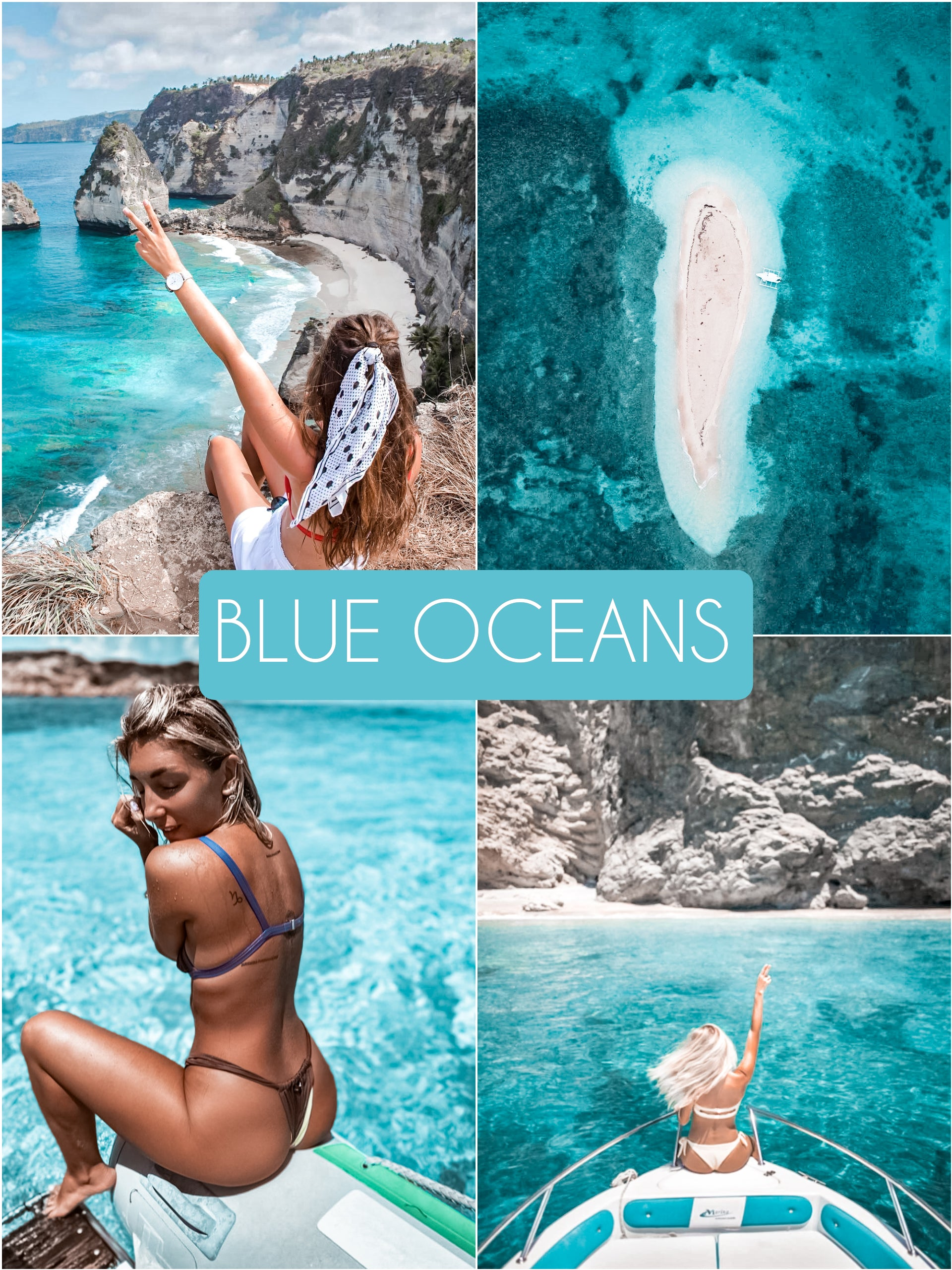 Blue Oceans Collection - The Dreamy Photographer. One Click Filter Presets