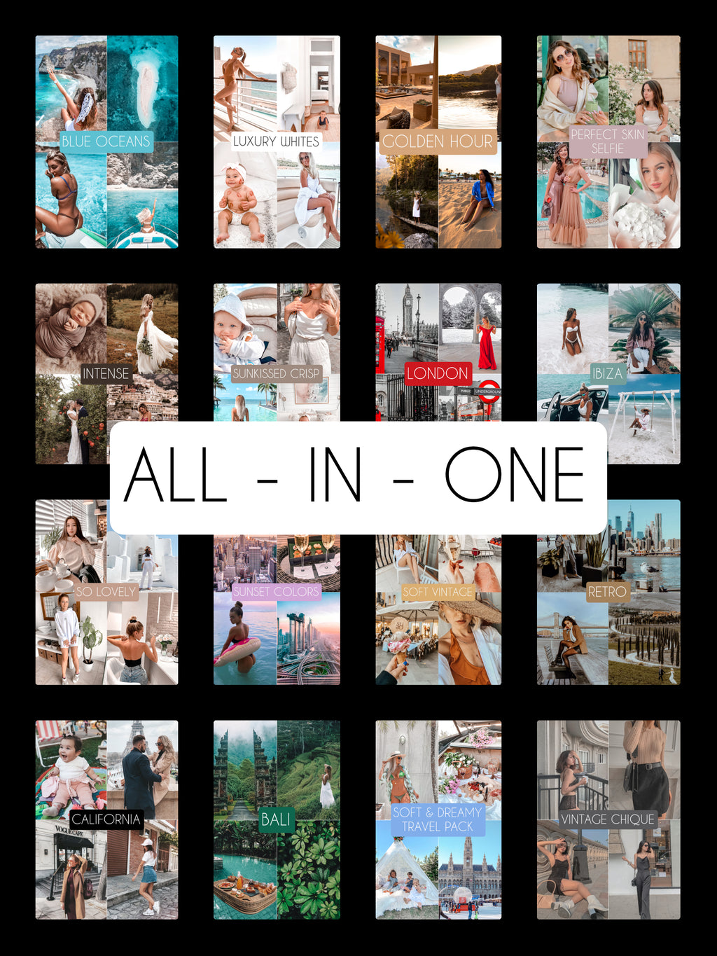 ALL - IN - ONE  PACK - The Dreamy Photographer. One Click Filter Presets