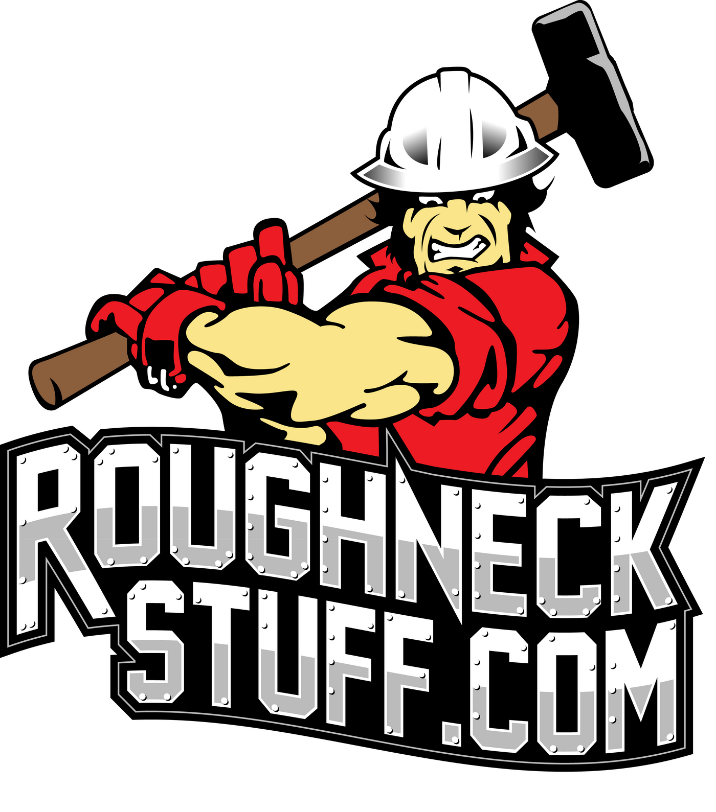 ... Oilfield-Roughneck-Total-Nipple-Up-Hard-Hat-Sticker