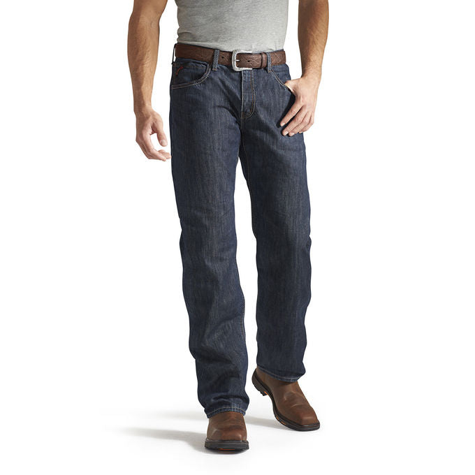 New Ariat Men's FR M3 Loose Fit Basic Stackable Straight Leg Jeans -Shale 10014450