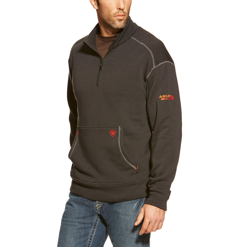 New Ariat FR Black Polartec 1/4 Zip Fleece