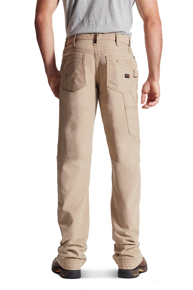 465c8604 Men's Ariat FR flame resistant M4 Khaki Workhorse Carpenter Jean Pant  10017227