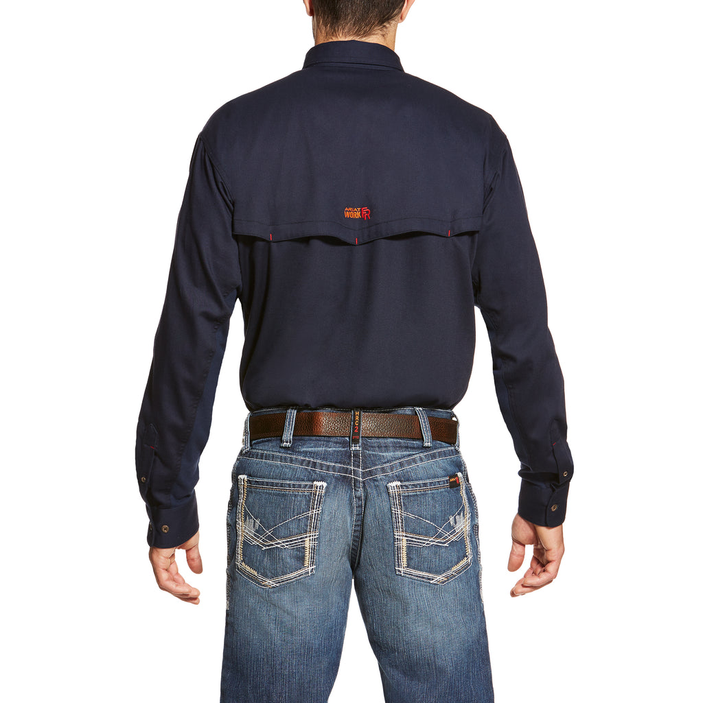 ***SALE! Ariat FR Solid Lightweight Vent Summer Shirts in Grey and Navy 10019063 10019062