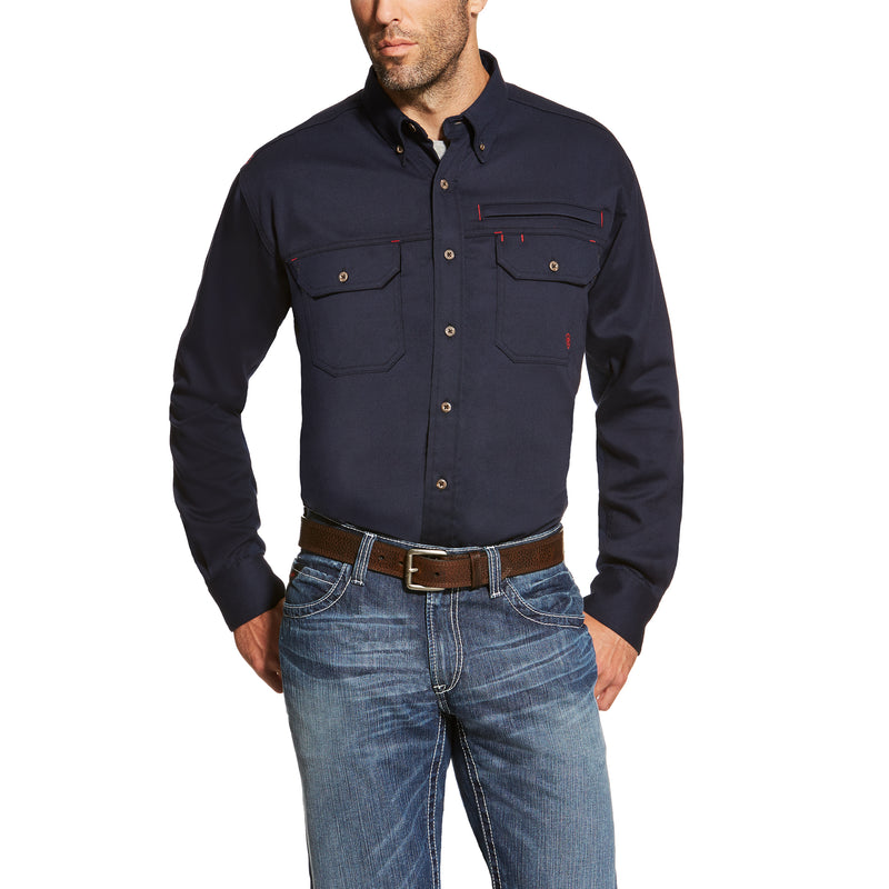 SALE! Ariat FR Solid Vent Summer Shirts in Khaki and Navy 10025402 10019062