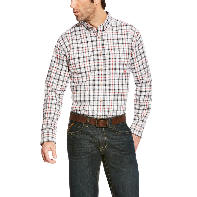 New Ariat FR Briggs Work Shirt-Gray Multi